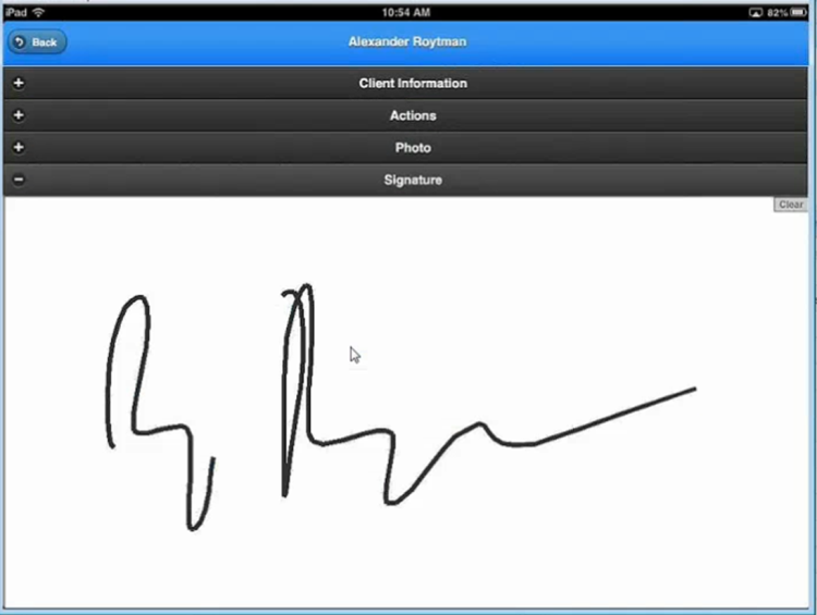 Add a signature pad widget to your mobile applications