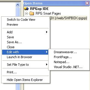 Integrating with PC-based designers and editors